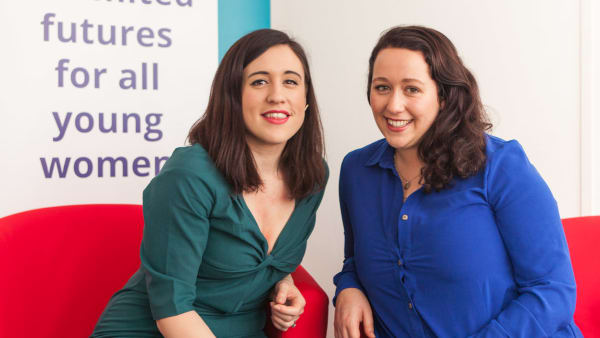 Picture of The Girls Network founders Charly Young and Becca Dean